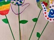 Manualidades Infantiles Flores huellas manos
