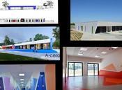 Colegio infantil diseñado a-cero municipio madrid