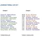 Ourense Termal 2017 #OTC17 (Horarios)