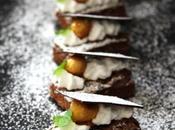 Mini brownies Oleocao. Receta petit four para sobremesa sofisticada