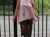 looks blusa oversize pantalón estampado