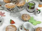 Muffins fresas aceite oliva virgen extra corazón Oleocao
