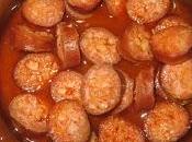 Chorizos vino microondas