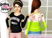 Rainbows Sweetly Sweatshirt Teen Version Asian Fashion (Sims