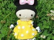 Minnie ganchillo vestido amarillo