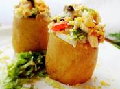 Patatas rellenas verduras atún