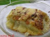Lasaña tres quesos