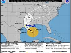 "Tormenta tropical ""Cindy"" forma Golfo México"
