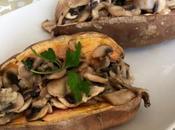 Boniatos (batatas, camote papa dulce) rellenos champiñón