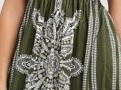Green strapless dress
