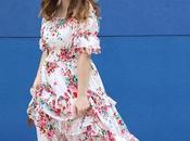 vestido largo flores