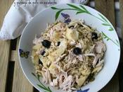 Ensalada trigo tierno pechuga pollo escabeche
