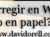 ¿Corregir Word papel?