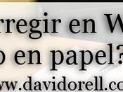 ¿Corregir Word papel?