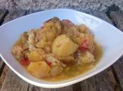 Patatas guisadas bacalao (tradicional Crock-Pot)