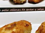 Pechugas pollo rellenas queso salsa jalapeño