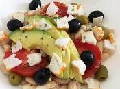 Ensalada alubias aguacate surimi