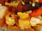 Timbal quinoa, puré calabaza verduras Calabizo