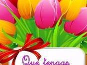 Fondo flores para postales felicitación personalizadas.