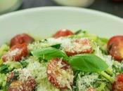 Receta espaguetis calabacín tomatitos cherry
