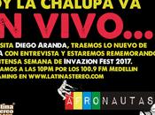 Lunes, Afronautas VIVO Diego Aranda, Festival Invazion 2017.