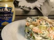 Verduras pollo asado mayonesa Heinz