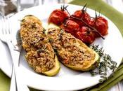Calabacines rellenos verduras amaranto