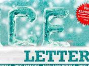 Alfabeto Completo Letras Hielo