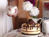 Tarta snickers helado mantequilla cacahuete