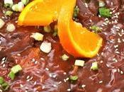 Carne vegetal naranja estilo asiático