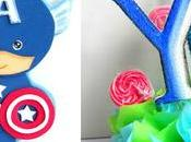 Aprende cómo hacer centros mesa capitán América para niños