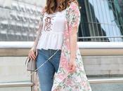 Outfit jeans rotos maxi kimono