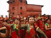 Festival indio Teej, bienvenida Monzón