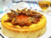 Tarta queso fresco miel, higos almíbar miel naranja