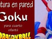Pintura pared para cuarto infantil: Goku pequeño nube