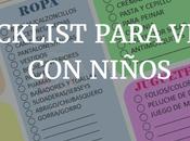 Checklist para viajes niños. Imprimible gratis-