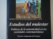 """""""Estudios malestar"""", José Luis Pardo. Reseña."""