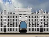 Réplica Minecraft Edifico Banco Santander, España.