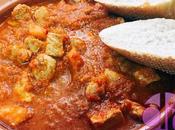 Carne salsa verduras