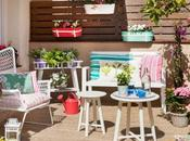 Terraza lowcost muebles IKEA