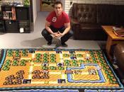 joven pasó años haciendo alfombra Super Mario Bros