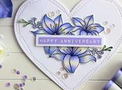 Heart Shaped Floral Card
