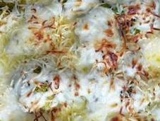 Brocoli gratinado patata cebollita
