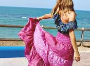 falda larga croptop
