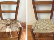 Reparar silla enea cuerda