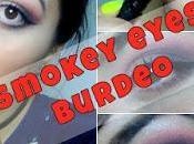 Smokey eyes burdeo VIDEO