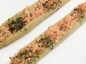 Espárragos rellenos salmón crema queso