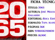Reseña: 2065, José Miguel Gallardo