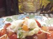Tomates cherry asados huevo, panceta parmesano