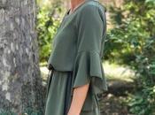 Fall colors: olive green dress
